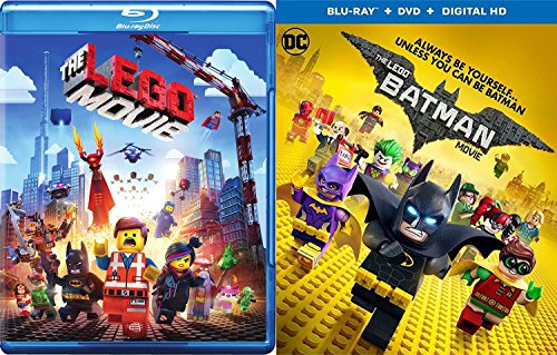 Awesome Double Feature Batman & The lego Movie - Blu Ray Animated Lego 2-Pack Set