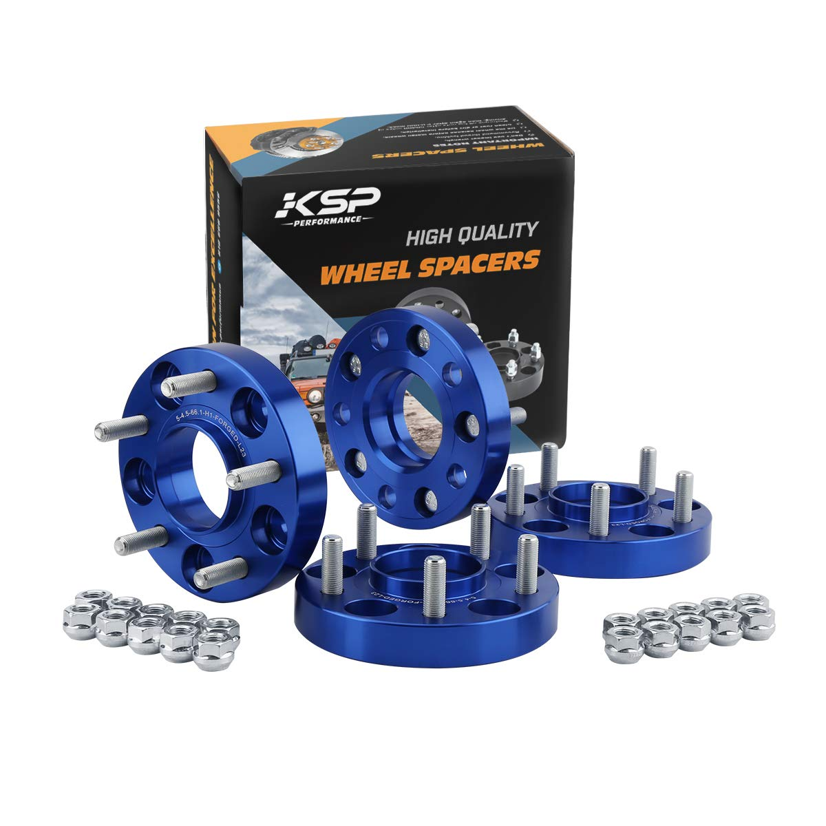 "KSP 5x114.3 Wheels Spacers Fit for G35 G37 350Z 370Z 240Sx 300Zx Altima,1""(25mm) 5x4.5 Hub Centric 66.1mm Thread Pitch 12x1.25 Studs for 5 Lug Wheels"