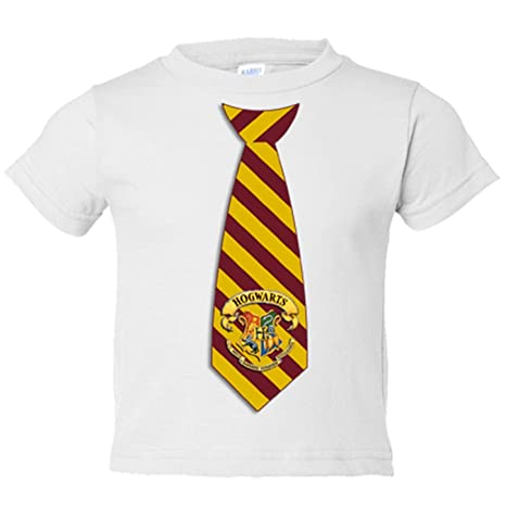 Camiseta niño Harry Potter corbata Hogwarts Gryffindor - Blanco, 3-4 años