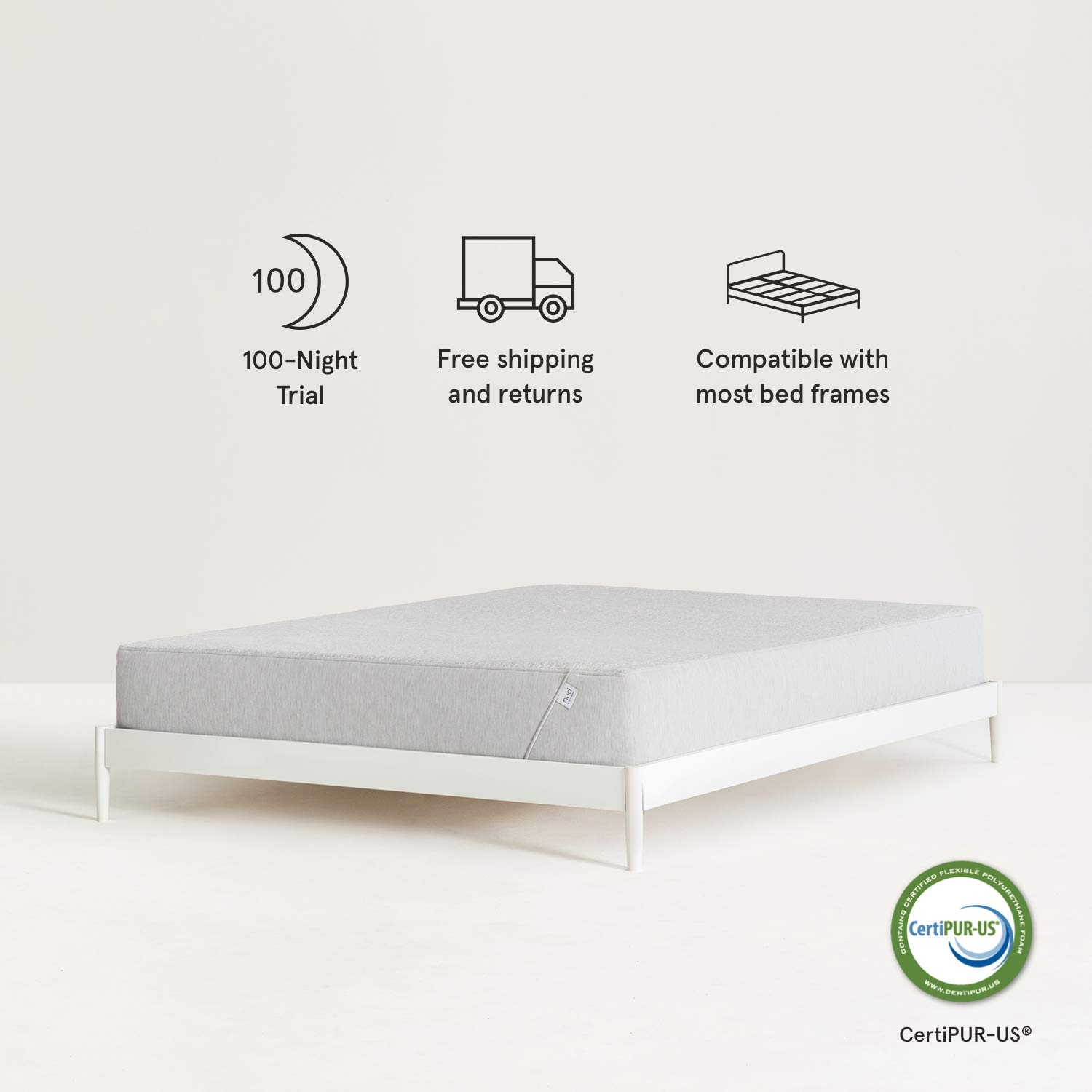 Nod Hybrid by Tuft & Needle Queen Mattress, Amazon-Exclusive Soft Memory Foam and Firm Innerspring Bed in a Box with Support and Cooling Gel, 100-Night Sleep Trial, 10-Year Limited Warranty by Nod by Tuft & Needle