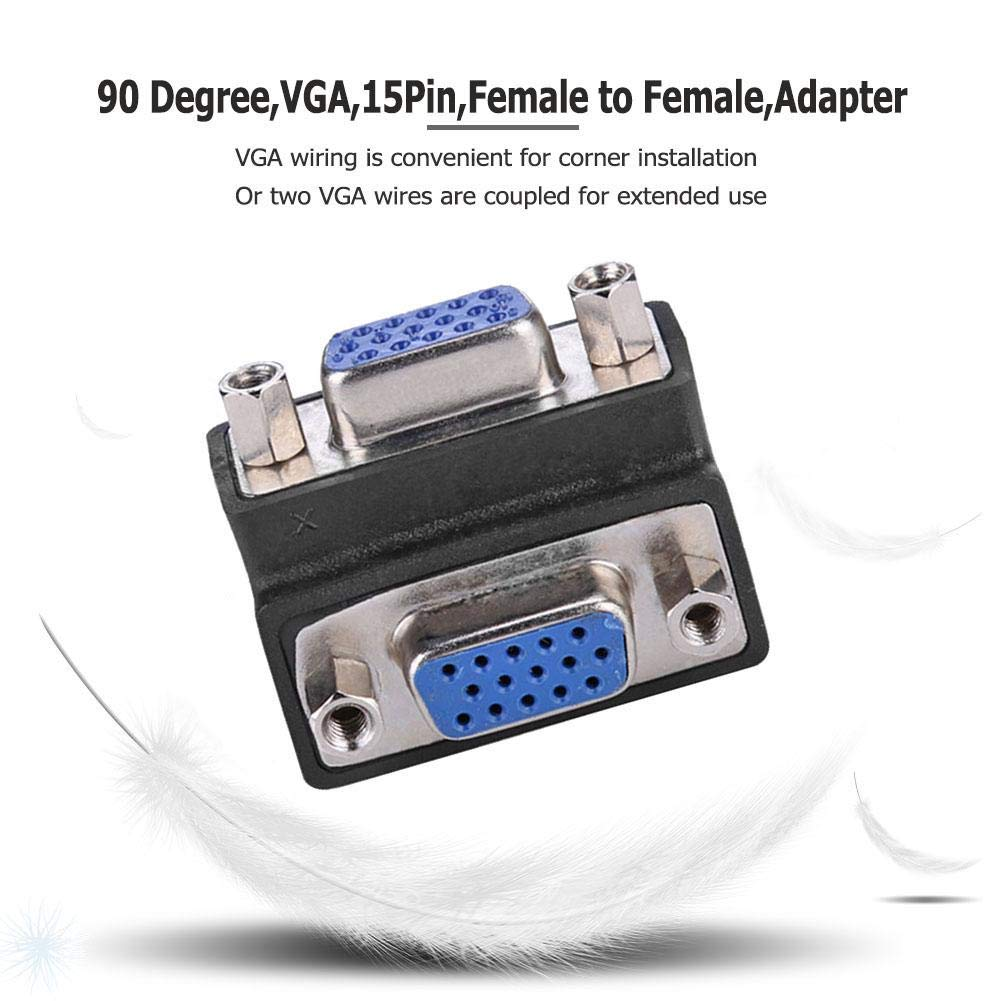 Buy Jokereader 90 Degree VGA 15Pin to Adapter ... on computer monitor, d4 video connector, game port, composite video, ps/2 connector, computer port, mini-din connector, audio and video interfaces and connectors, kvm switch, bnc connector,