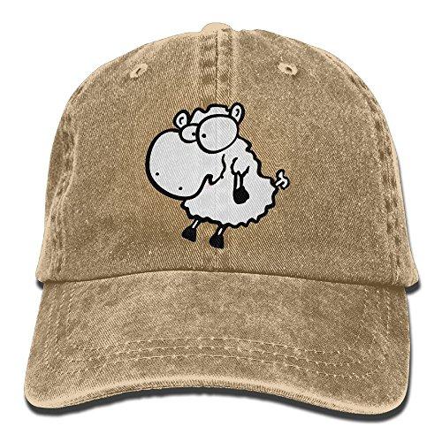 Sitting Sheep Cowboy Sports Hat Rear Cap Adjustable Cap Sitting Sheep