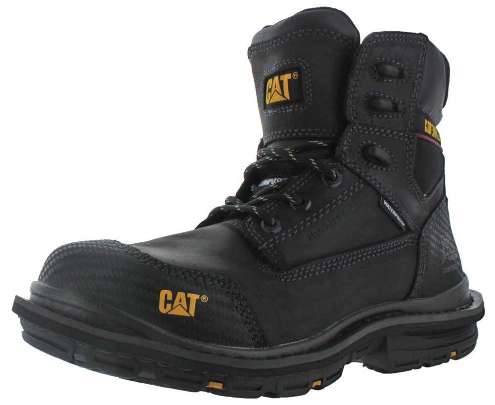 Caterpillar Men's Fabricate 6'' Tough Waterproof Work Boot Composite Toe Black 8.5 D(M) US