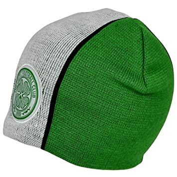 Official GLASGOW CELTIC FC green and white beanie hat 7565f1543f4