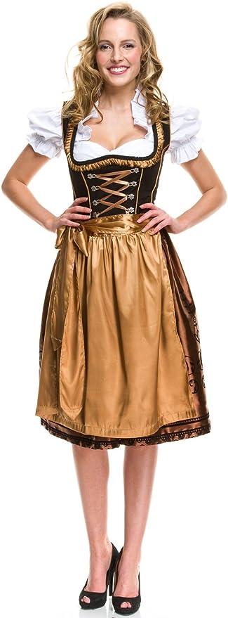 Gr.34 bis 52 Lifos 0351 Trachtenkleid 3Tlg Dirndl Oktoberfest