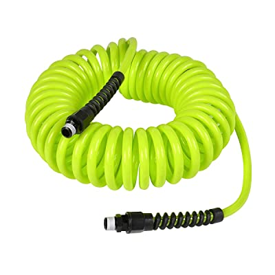 Flexzilla Polyurethane Recoil Hose, 1/4 in. x 25 ft, ZillaGreen - LP1425AFZ: Automotive