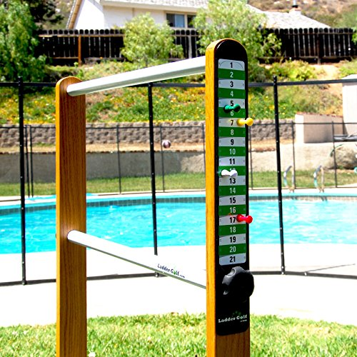 (Ladder Golf Add-On Magnetic Game Scoreboard with Magnets, Green and White)
