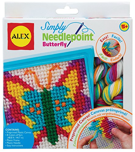 ALEX Toys Craft Simply Needlepoint - Butterfly Set Needlepoint Kit