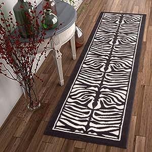 Amazon Com Well Woven Zebra Animal Print Black Amp Off