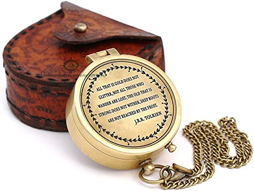 Vintage Brass Maritime Sporting Compass GPS Nautical Directional Hike//Camp
