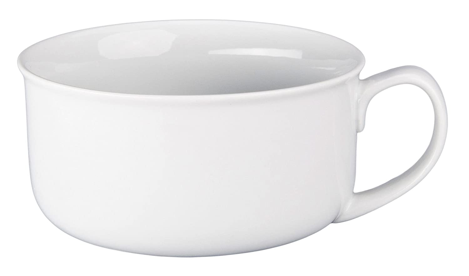 BIA Cordon Bleu Oversized Jumbo White Soup Bowl with Handle, 20 Ounce