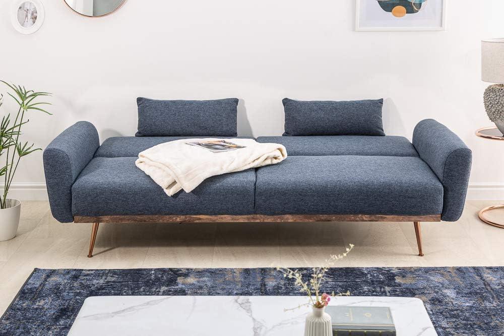 Invicta Interior Retro Schlafsofa Bellezza 208cm Blau 3 Sitzer Couch Inkl Kissen Sofa Schlafcouch Couch Mobel Kuche Haushalt Wohnen Medsegmt Com Br