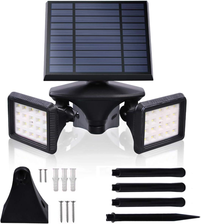 Solar Flood Light Motion Sensor, Waterproof Solar Powered Light, LED Wall Lights 6000K Dusk to Dawn, 2-in-1 Wireless Outdoor Solar Landscape LED Light for Garden/Driveway/Porch/Walkway (1, 6000K)