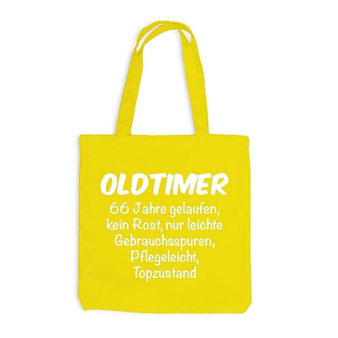 Jutebeutel Oldtimer Geburtstag 66 Jahre Birthday 66 Years Fun