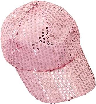 Xinantime Sombrero, Lentejuela Gorra De Beisbol Paño (Rosa ...