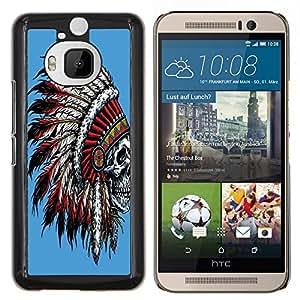 Dragon Case - FOR HTC One M9+ / M9 PLUS - Man is mortal - Caja protectora de pl??stico duro de la cubierta Dise?¡Ào Slim Fit