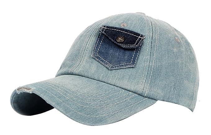 JYR Gorra de béisbol de moda Hat Gorra de béisbol de mezclilla Vintage Gorras de visera con un bolsillo pequeño - Azul: Amazon.es: Ropa y accesorios
