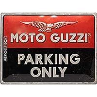 Nostalgic-Art Moto Guzzi - Parking Only - Gift idea for motorcycle fansRetro Tin SignMetal PlaqueVintage design for…