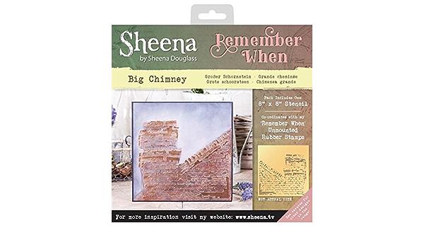 Sheena Douglass Remember When Stencils-Big Chimney 0.03 x 24 x 22 cm