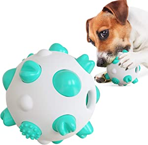 USWT Anti-bite Dog Toys Resist Knife Cutting Axe Chopping Increase Volume Food Dispensing Balls Puppy Toy Dogs Supplies Teeth Cleaning Molar Toothbrush Keep Oral Health