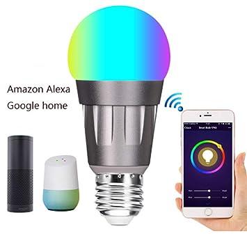 Bombilla Led Inteligente WiFi Bombilla De Control De Voz De Google para El Hogar De Alexa. Bulbo De Color Oscurecimiento Casa Inteligente: Amazon.es: Hogar