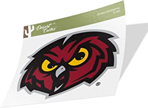 Temple University Owls NCAA Vinyl Decal Laptop Water Bottle Car Scrapbook (Sticker - 007)