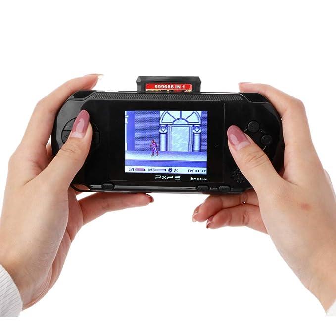 FR-POPPYZ Consola de Videojuegos portátil de 16 bits, 150 ...