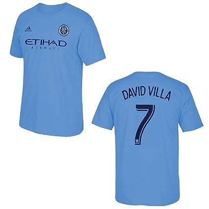 New York City Football Club David Villa Blue Name and Number T-Shirt (2X