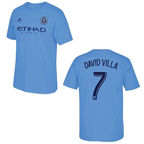 New York City Football Club David Villa Blue Name and Number T-Shirt (2X