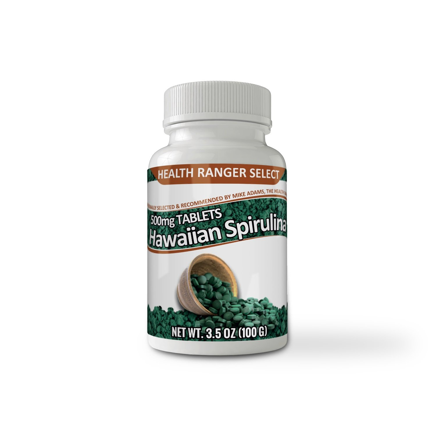 Hawaiian Spirulina Cold Pressed 500mg Health Ranger Select 200 tabs