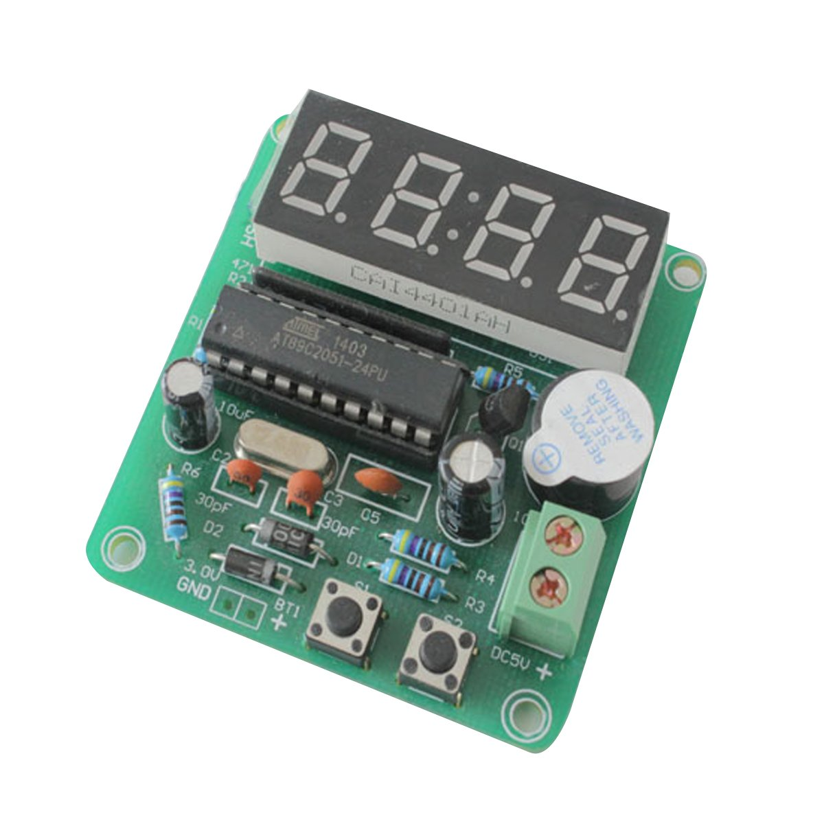 Daoki C51 4 Bits Digital Led Electronic Clock Production Kit Circuit Board Diy Time Suite Kits Set Toys Games