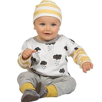 Enfant Ensemble,Xinan Bébé Longue Manches Vêtements Automne Ensemble Tops+pantalons Set
