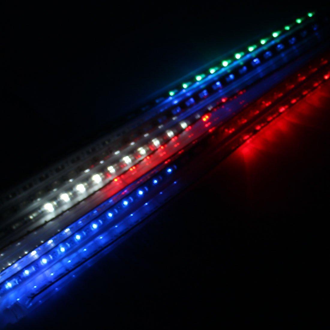 eDealMax CA 110V 8 tubos LED ahuecado Lluvia de meteoros multicolor enciende el árbol de la calle Decoración Luces enchufe de EE.UU. - - Amazon.com