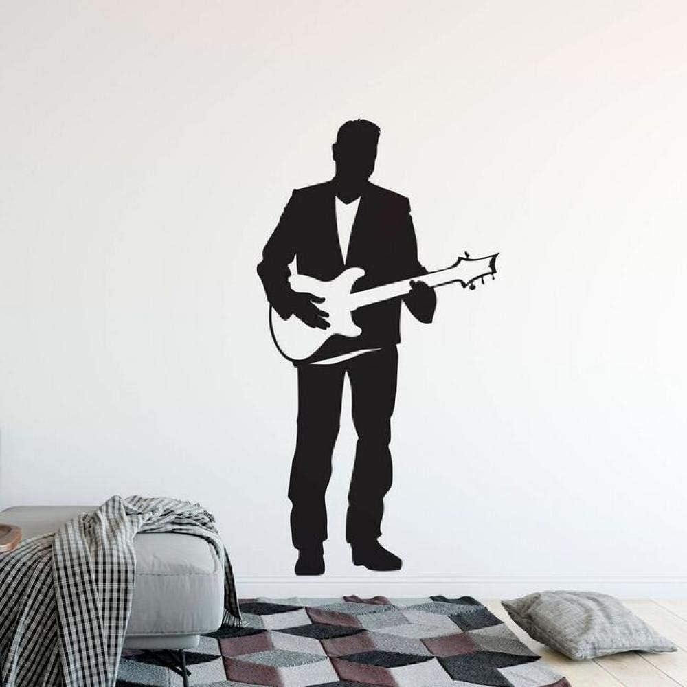 Guitarra Eléctrica Etiqueta de La Pared Singer Man Con Guitarra ...