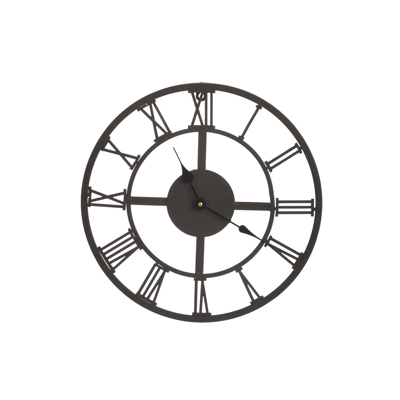 Cape Craftsmen Black Roman Numeral Outdoor Safe Metal Clock