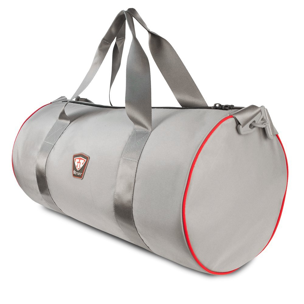 Fitmark Classic Duffel for Sport, Gym, and Travel, with Ultra Comfort Strap, Grey