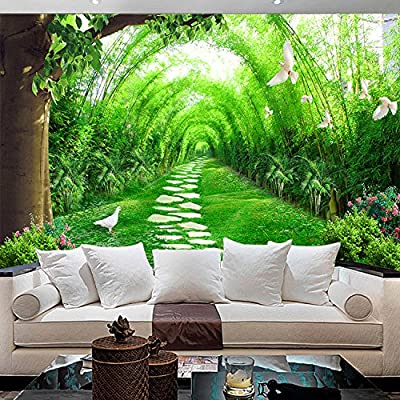 XLi-You 3D Chinese Bamboo Garden Landscape Wallpaper Mural Background Wallpaper In The Living Room Sofa Bed Extended Space