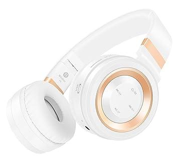 Darkiron P6 Bluetooth 4.0 estéreo Auriculares en oreja Auriculares inalámbricos con cable de audio Apoyo TF