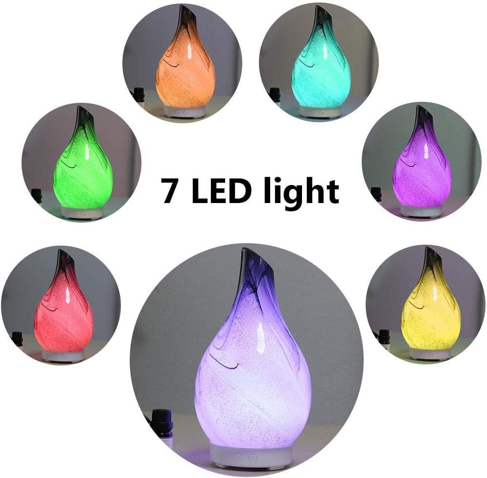 Perfetto per camera 7/Colori LED diversi di cambio SILENZIOSO diffusore aromatico di OLi essenziali di vapore freddo ufficio umidificatore A ultrasuoni aromaterapia di vetro Tipo 2 bambino