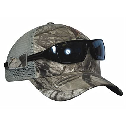 KC Caps Unisex Hunting Cap Constructed Camouflage Mesh Hat Visor with  Sunglasses Holder (US Patented 2d17efb2bc26