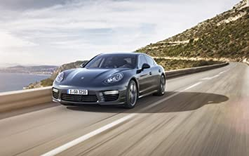 2014 Porsche Panamera Turbo S 18X24 Metal Aluminum Wall Art