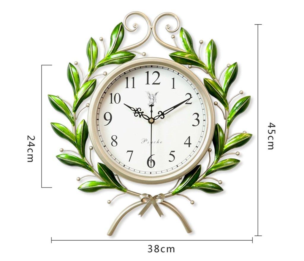 GRJH® ヨーロッパの時計、時計の壁時計リビングルームの寝室ホーム北欧の装飾クリエイティブアートサイレント時計38x45cm、45x55cm クリエイティブファッションシンプル ( 色 : 緑 , サイズ さいず : 45x55cm ) B07CML3BGN 45x55cm|緑 緑 45x55cm