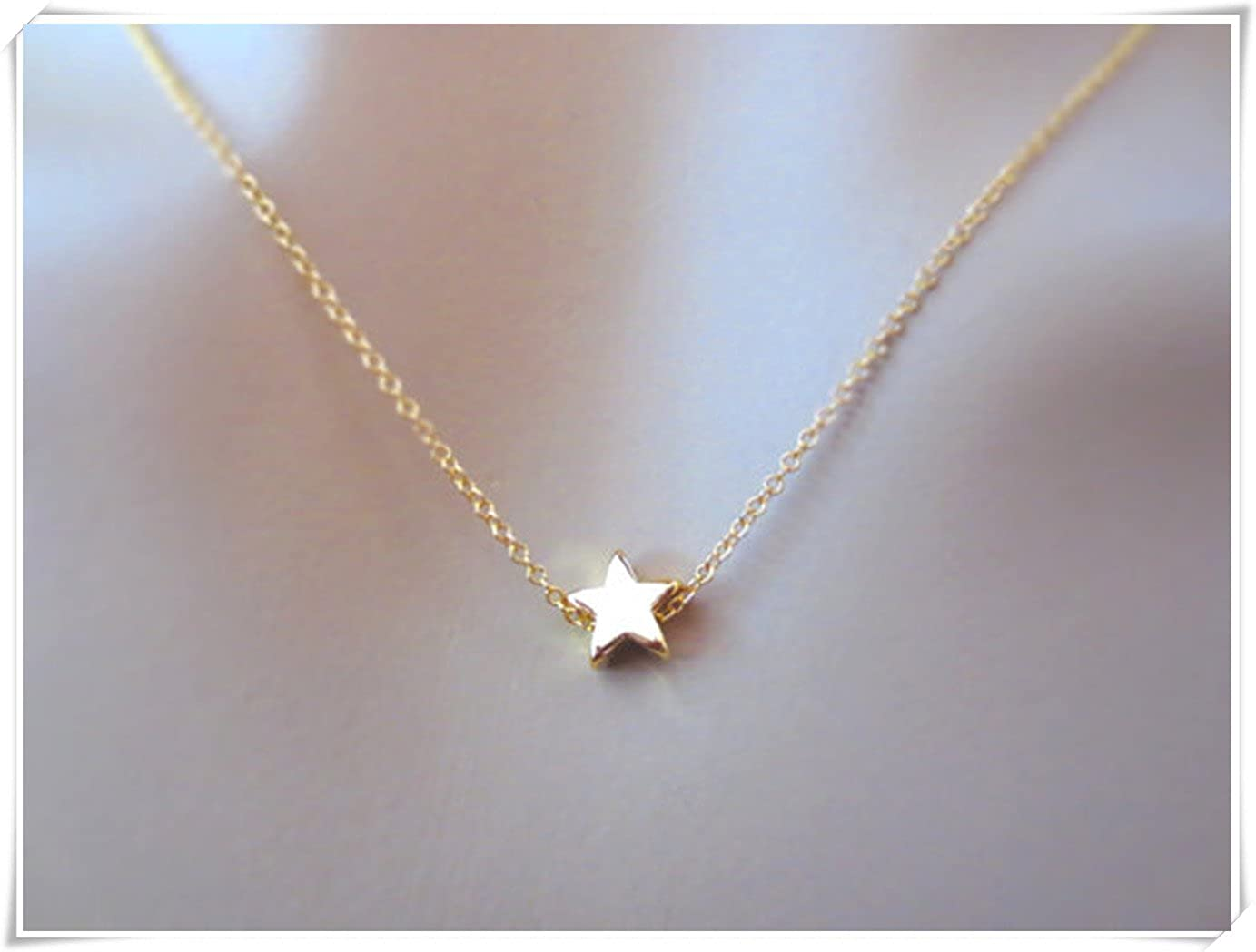 40135efc41a Gold, Silver,Star,Necklace, Star, Small, Star, Necklace, Simple ...