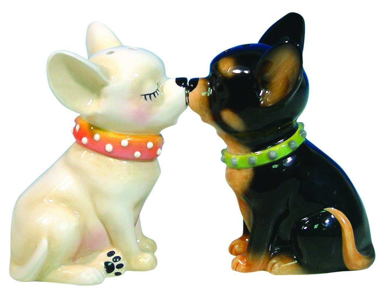 amazoncom westland giftware mwah magnetic chihuahuas salt and  - amazoncom westland giftware mwah magnetic chihuahuas salt and peppershaker set inch chihuahua gifts kitchen  dining