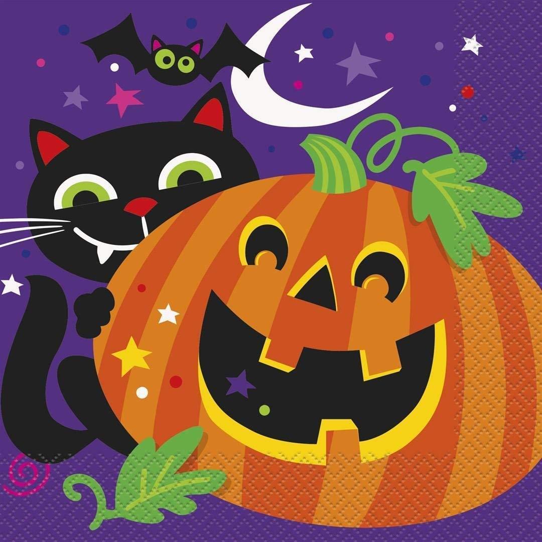 Halloween Luncheon Napkins 32 ct Haunted Halloween