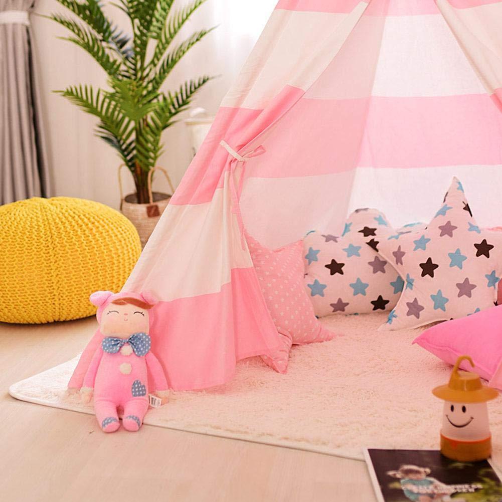 diseño de Princesa India Talla única liuxi Rosa Tienda de campaña Infantil con Pompones Colgantes