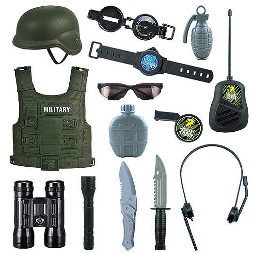 Ceepko - Disfraz Militar para niños, Juego de rol de Soldado ...