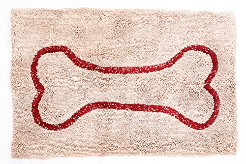 - Soggy Doggy 26-Inch by 36-Inch Microfiber Chenille Doormat for Wet Dog Paws, Beige, Large