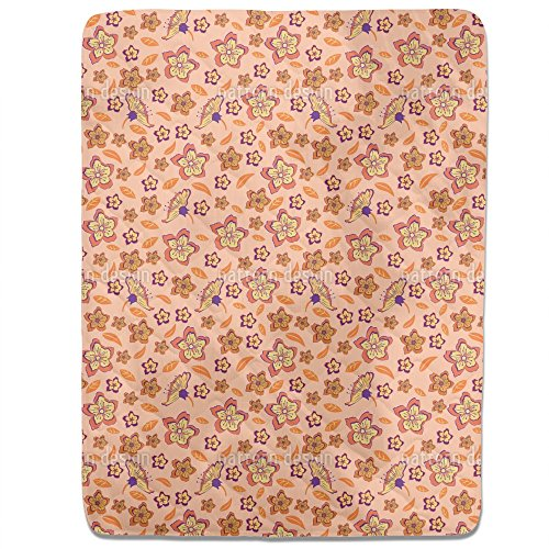 Tropical Flower Power Fitted Sheet: King Luxury Microfiber, Soft, Breathable by uneekee