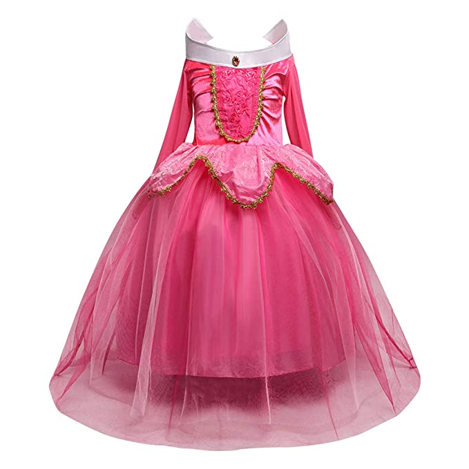 e0aa17d0428f5 OwlFay Sleeping Beauty Princess Aurora Dress up for Girls Halloween Party  Costume 3-8